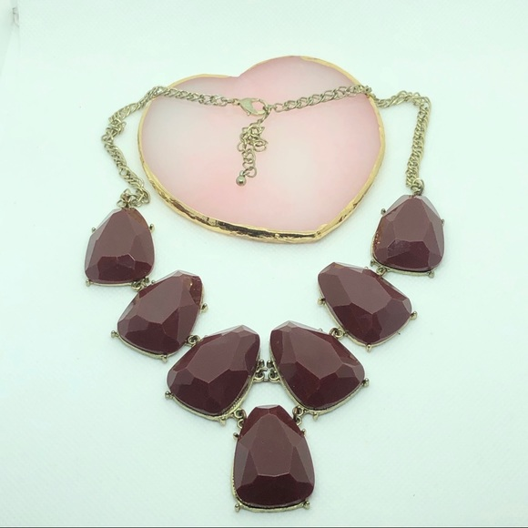 Chocolate Brown Y statement Necklace